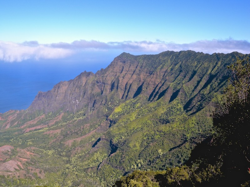 The view from Na'Pali Coast State Park in Kauai, Hawaii, United States