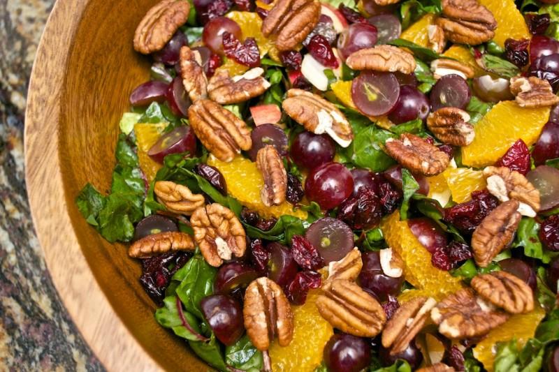 Recipe: Raw Chard Pecan Pom Salad