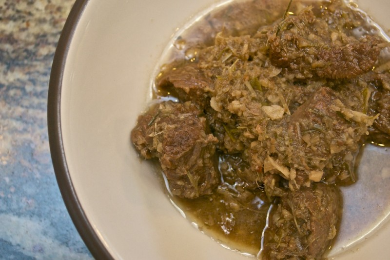 Because of the amount of lemongrass in rendang daging, you might be ...